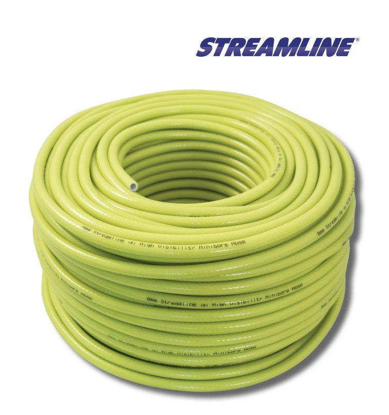 Streamline® 8mm Minibore Hose - 100mtr Hiviz