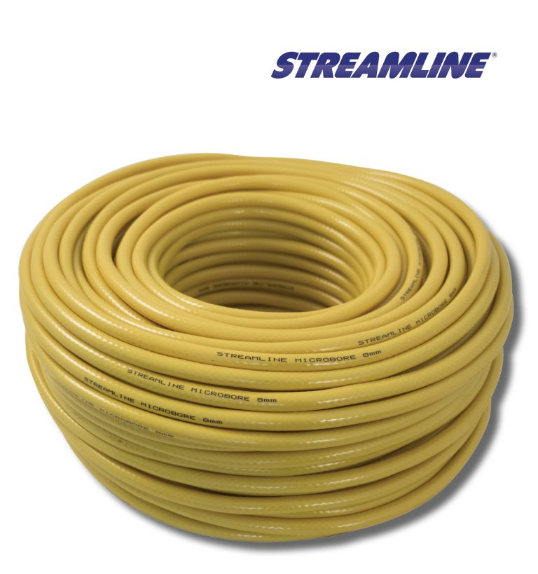Streamline® 8mm Minibore Hose - 50mtr yellow