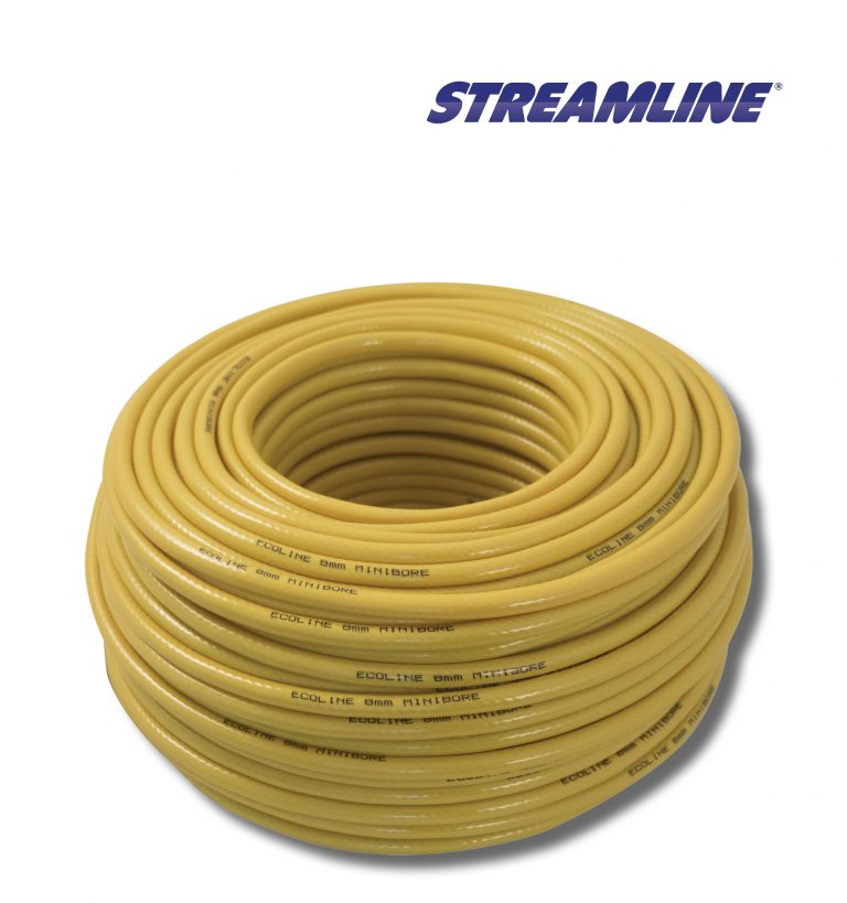 Ecoline™ 8mm Minibore Hose - 100mtr yellow