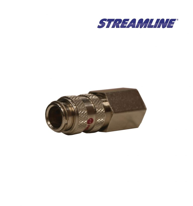 Female Microbore Coupling with 1/4 inch female thread