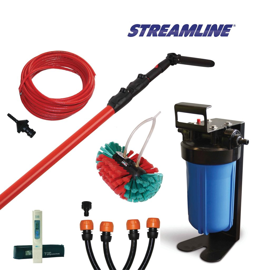 Window Cleaning Pole System: Starter Window Cleaning Kit, WFP, Streamline, Pure Water Kit
