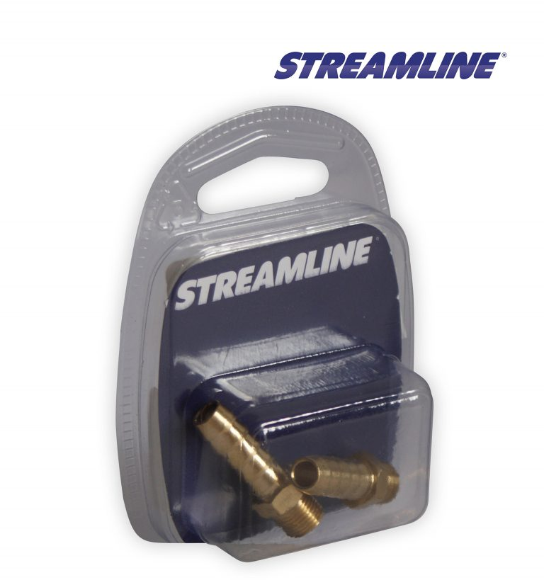 Merchandised Brass 1/4inch M x 6mm Hosetail