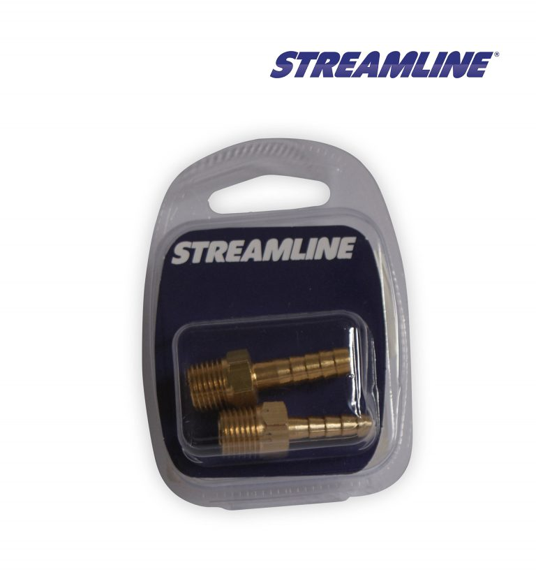Merchandised Brass 3/8inch M x 6mm Hosetail