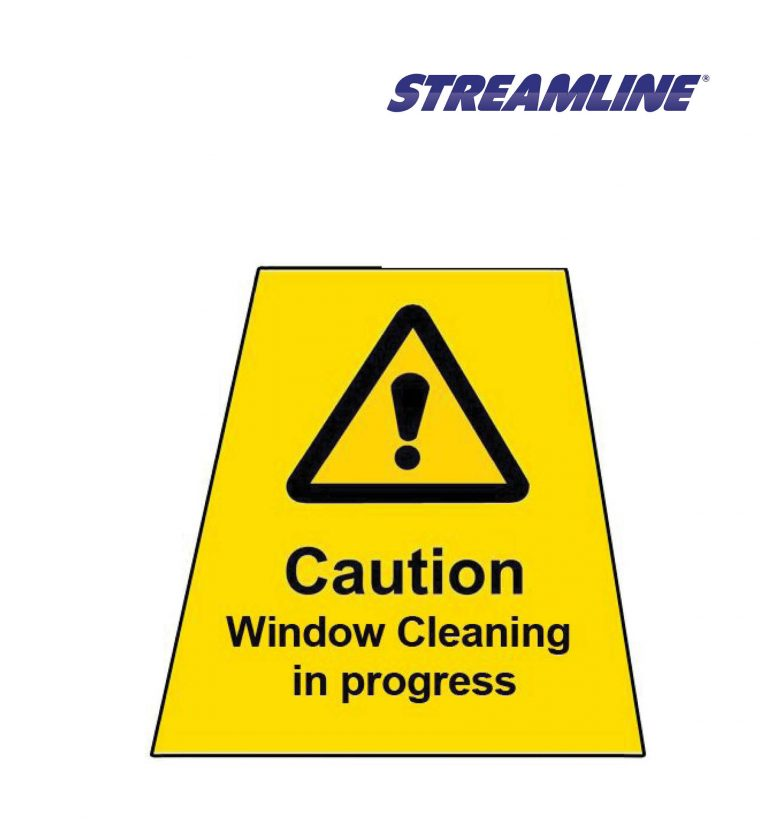 Window Cleaning in Progress MINICONE Label