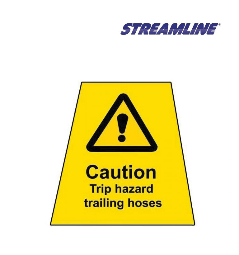 Trip Hazard Trailing Hose MINICONE Label