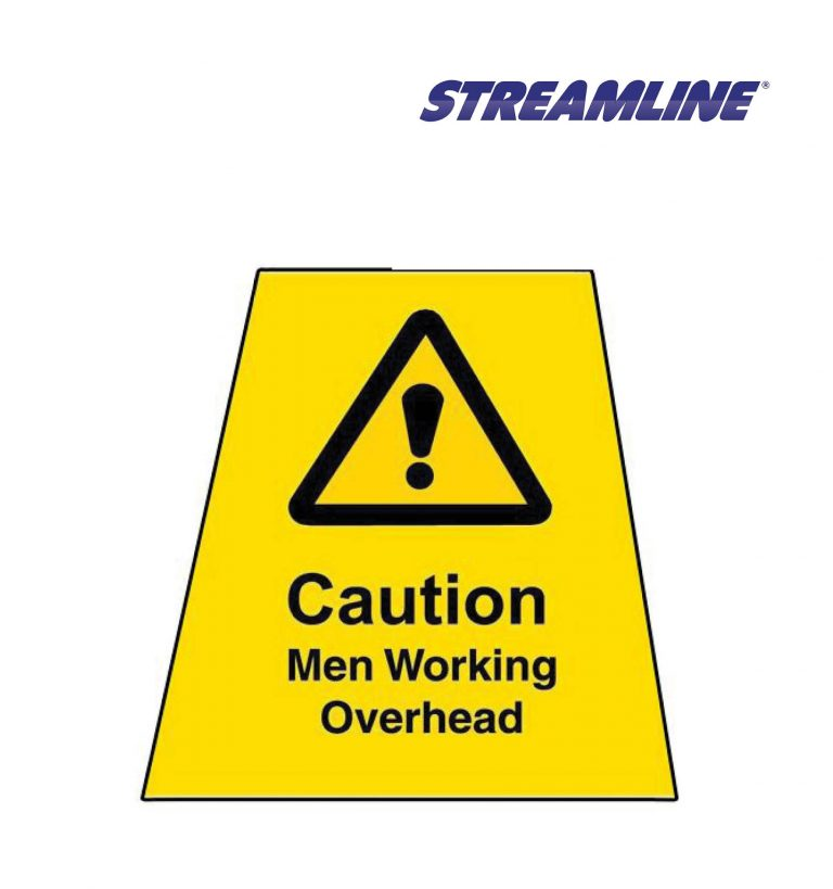 Men Working Overhead MINICONE Label