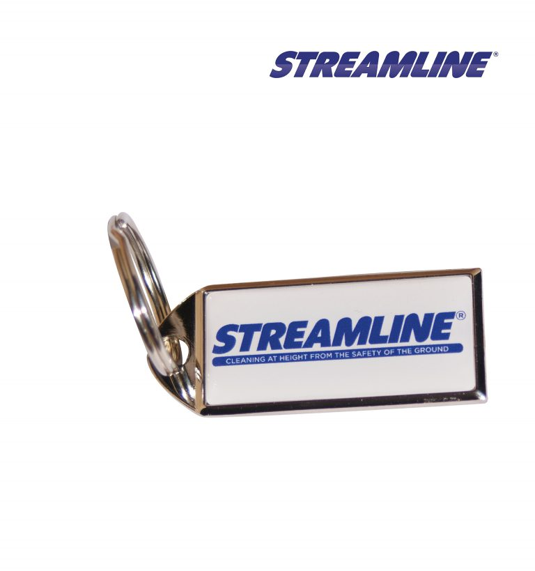 A classic rectangle Streamline® Key Ring