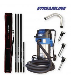 70ltr Streamvac™ Residential Gutter Cleaning System - 5.5mtr - Complete with CCTV kit