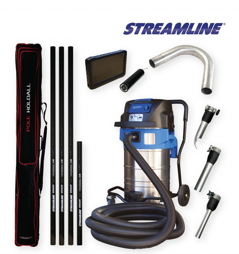70ltr Streamvac™ Residential Gutter Cleaning System Complete with CCTV - 5.5mtr