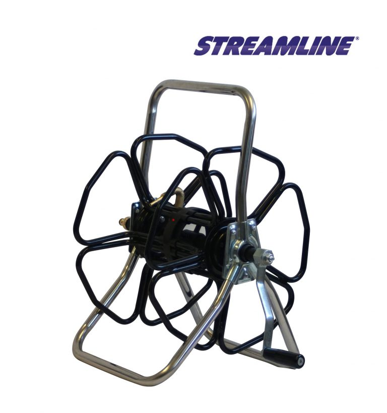 Stainless Steel Freestanding metal hose reel - HRM2-SS
