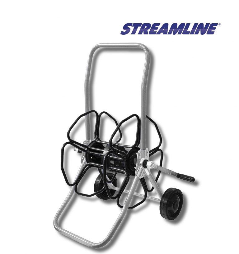 Stainless Steel Wheeled metal hose reel - HRM4-SS