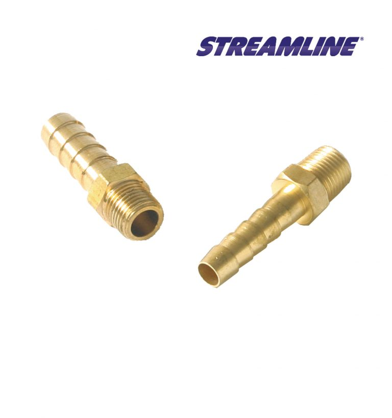 Brass 1/8 inch M x 6mm Hosetail